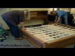 storage bed assembly youtube