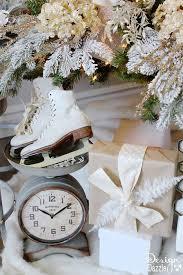 Ice Skates Under The Tree Winter Wonderland Glam Christmas Designed By Toni Roberts Of