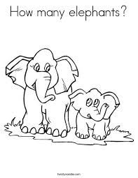 How Many Elephants Coloring Page That You Can Customize And Print For Kids