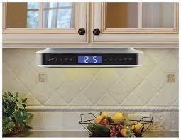 ikb333s under cabinet radio with bluetooth speakers silver