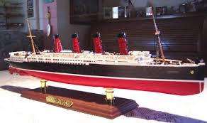 rms lusitania ship models