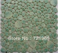 discount glazed porcelain tile glass pebble mosaic tile ppmt044