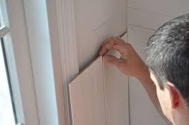 Beveled Tile Inside Corners by How To Install Beadboard Wainscoting One Project Closer