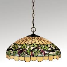grapevine stained glass hanging l
