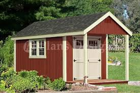 16x12 Shed Material List by 16 U0027 X 12 U0027 Cabin Shed Covered Porch Plans Plueprint P61612 Free