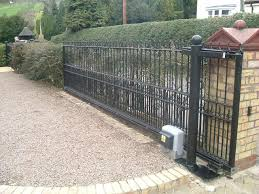 Exterior Design: Driveway Pavers And Automatic Gate Openers Using ... Sliding Wood Gate Hdware Tags Metal Sliding Gate Rolling Design Jacopobaglio And Fence Automatic Front Operators For Of And Domestic Gates Ipirations 40 Creative Gate Ideas 2017 Amazing Home Part1 Smart Electric Driveway Collection Installing Exterior Black Wrought Iron With Openers System Integration Contractors Fencing Panels Pedestrian Also