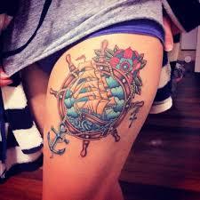 Thigh Tattoo Designs 25