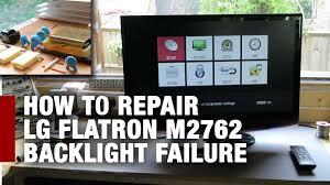 lg tv problem monitor backlight and fix