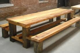 restaurant picnic table reclaimed wood hemlock copy picnic