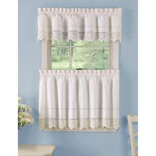 Walmart Lace Kitchen Curtains by Curtains Impressive Brown Wall And White Curtain Lace Curtains