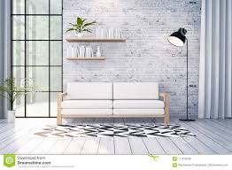 100 Modern Loft Interior Design White Sofa And Black Lamp On