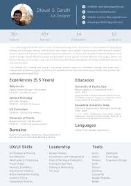 What Is The Format For A Graphic Designer Resume Fresher In India Rh Quora Com