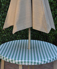 outdoor tableclothswith umbrella hole fitted cafe check outdoor