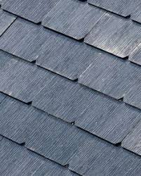 slate glass one of four styles solar panel roof shingles in