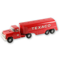 100 Texaco Toy Truck Lot Detail 1961 Buddy L Pressed Steel Oil Tanker