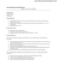 Health Insurance Nurse Resume Sample