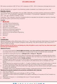 Tcs Resume Format For Freshers Computer Engineers by It Engineering Technical In India Techmahindra Freshers