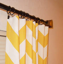 Yellow And White Chevron Curtains by Curtains Ideas Yellow And White Striped Curtains Pictures Of
