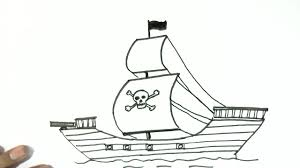 100 Design A Pirate Ship How To Draw A In Easy Steps For Children Kids