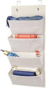mdesign schrank organizer ohne bohren hängeorganizer mit vier großen fächern mehrzweckschrank für türen im kinderzimmer und schlafzimmer