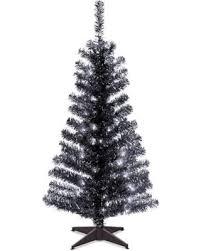 National Tree Company 4 Ft Pre Lit Tinsel Artificial Christmas Floor Decor