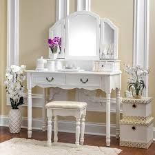 Fineboard Elegant Vanity Dressing Table Set Makeup With Regard To Drawers Remodel 13