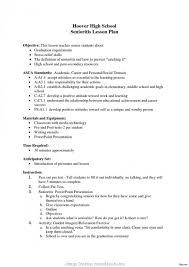 Regular Example Lesson Plan For Senior High School Teacher Resume Examples Elementary Sample Middle