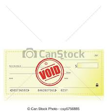 Void bank check illustration isolated over a white clipart