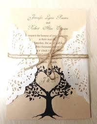 Homemade Wedding Invitation Kits Amazing Lace Ribbon Woodland Cutout Rustic Diy Invitations