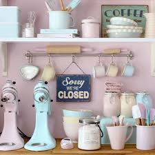 Pastel Retro Kitchen Tools A And Baking Dream