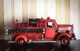 100 Old Fire Trucks Car Plastic Model Of An Classic Red Truck On A Stripped