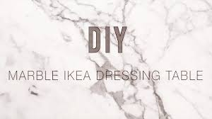 Vanity Table Ikea Hack by Diy Marble Ikea Malm Dressing Table Youtube