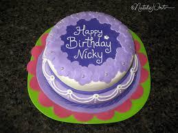 Pretty Purple Birthday Cake