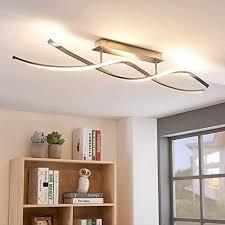 lindby led deckenleuchte kati dimmbar modern in alu aus aluminium ua für wohnzimmer esszimmer 1 flammig a inkl leuchtmittel le