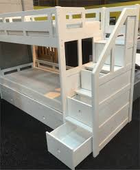 Wood Bunk Beds With Stairs Plans by Bunk Beds Twin Over Full Bunk Bed With Stairs And Desk Bunk Bed