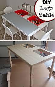 DIY Lego Table Made From IKEA Ingo Dining And Trofast Buckets