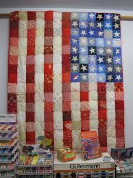 American Flag Quilt Pieced Top With Hand Appliqued Stars
