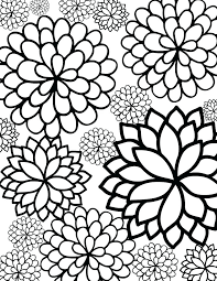 Cool Printable Coloring Pages Flower Print Books Unique Free
