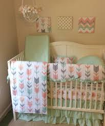 bedding set gray mint arrow baby bedding gender amazing grey and