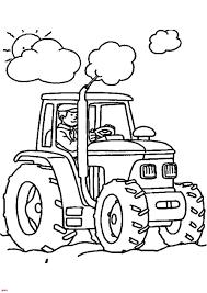 Souriant Fermier Conduisant Son Tracteur Roues Avec Une Remorque