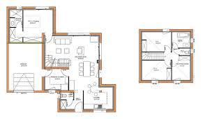 plan maison 4 chambres etage maison traditionnelle à étage 105 m 3 chambres maisons