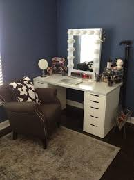 Diy Makeup Desk Ikea by Bedroom Vanity Sets With Lighted Mirror And Makeup Desk For Small