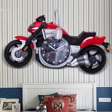 schlafzimmer led wand leuchte personalisierte kreative motorrad wand lichter mit uhren