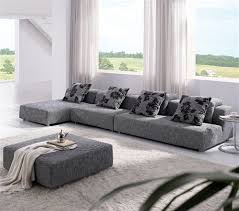 Zebrano Fabric Sectional Sofa TOS ANM308 33