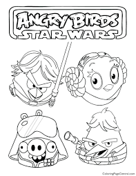 Angry Birds Star Wars Coloring Page Pages Darth Vader To Print Luke Skywalker Full Size