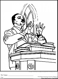 Incredible Martin Luther King Coloring Pages With Mlk And Preschool