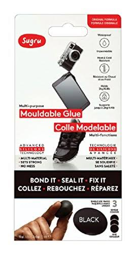 Sugru Mouldable Glue - Black, 3pk