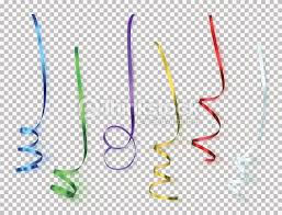 Set of colorful ribbons on transparent background Vector Art