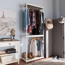 Baxton Simms Shoe Cabinet by Baxton Studio Gavin White Metal 3 Shelf Closet Storage Racking