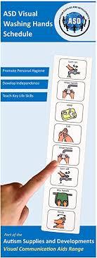 autism supplies developments visueller händewaschplan aus kunststoff englisch blau